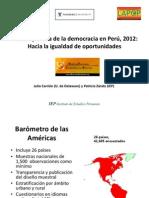 Presentación Barómetro 2012