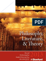 2013 Philosophy & Literature Catalog