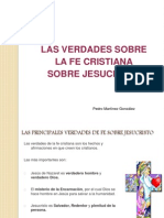 Las verdades sobre la fe cristiana