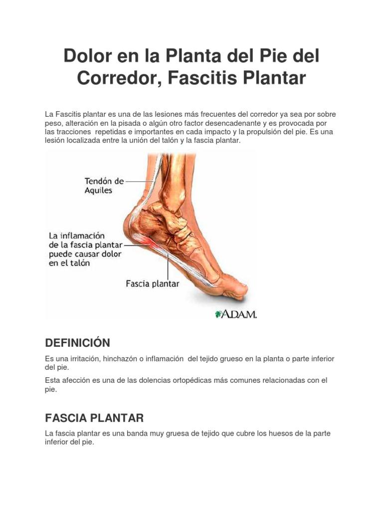 lesion en la planta del pie