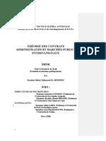 Theorie Des Contrats Administratifs Et Marches Publics Internationaux