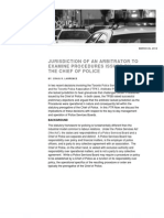 2012 Hicks Morley Jurisdiction of an Arbitrator to Examine Procedures Issued by The Chief of Police.pdf