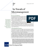 Travails of Micromanagement