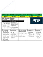 3rd six weeks planning calendar - biology