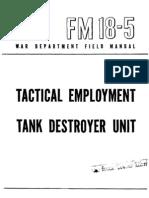 24576804 Fm 18 5 Tactical Employment Tank Destroyer Unit 1944
