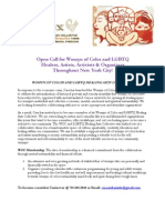 Open Call for Womyn of Color Artists 2012