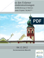 Aus den Eslarner Gemeinderatssitzungen - 12.2012