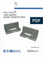 Ailtech 7600 Series Noise Generator ~ Operation and Service Manual, 11-1980.