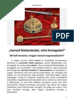 Mi is lenne az a magyar nemzet?