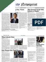 libertynewsprint 1-20-09 inaugural edition