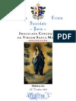 IMACULADA CONCEIÇÃO DA VIRGEM SANTA MARIA - VÉSPERAS I