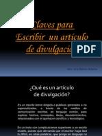 Articulo de Divulgacion