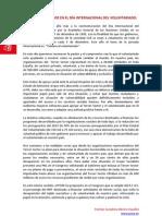 Manifiesto Del PSOE Dia Internacional Del Voluntariado 2012