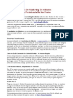 Tips De Marketing De Afiliados - La Persistencia Da Sus Frutos