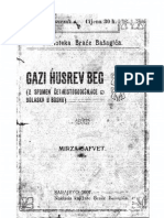 Gazi Husrev-Beg, Mirza Safvet, 1907