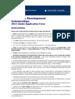 Ads Applicationform 2012