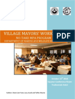 Government Leaders and Village Mayors Workshop on Oct 15, 2010