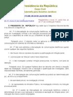 Interceptação telefônica Lei nº 9.296.1996 XXXX