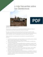 Prefuntas Frecuentes de Estudios Geotecnicos