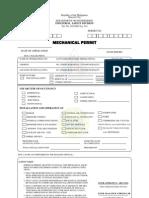 Mechanical Permit