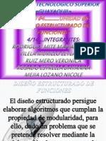 DISEÑO ESTRUCTURADO DE FUNCIONES