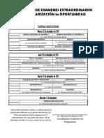 Calendario de Examenes 1a Oportunidad