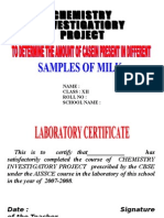 CBSE Class XII Chemistry Investigation Project Work