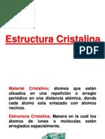 1.3 ESTRUCTURA CRISTALINA
