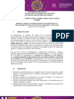 Seminario Internacional Sobre Familia, Educacion y Cambio. Comunicado 1
