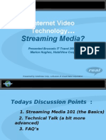 Internet Video Technology Streaming Media