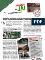 Flyer (panfleto) de la plataforma Beti-Jai