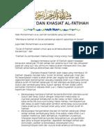 Fadhilat Dan Khasiat Al Fatihah