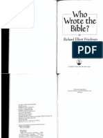 Who Wrote the Bible Richard Elliot Friedman