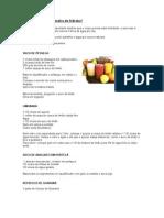 culinaria - sucos, receitas light e tabela de calorias