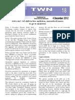 Third World Network – Doha Update #18