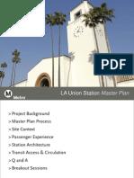 Los Angeles Union Station Master Plan -  Dec. 4, 2012