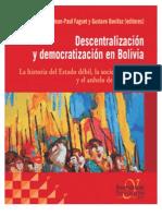 Zuazo Moira Descentralizacion y Democratizacion en Bolivia