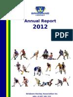BHA Inc Annual Report - 2012