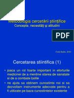 Curs 1 CB Metodologia Cercetarii Mod CB Oct 2010