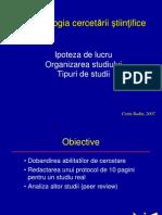 Curs 2 CB Metodologia Cercetarii Mar 2010