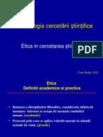 Curs 7 CB Curs Etica in Cercetare Final 2011