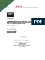 Mohamed E Al Bakry Introduction Letter CV 2 NOV 2005[1]
