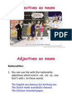 Adjectives as Nouns