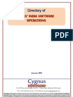 TOC of Directory of MNC's India Software Operations