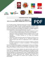 Communiqué de presse - NON à l'Accord UE-Colombie-Pérou