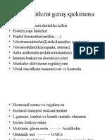 Amino Asitlerin Metabolik Bozuklukları (Prof. Dr. Sabahattin Muhtaroğlu)