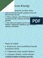 Enzim Kinetiği (Prof. Dr. Sabahattin Muhtaroğlu)