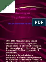 Klinik Biyokimyada Otomasyon Uygulamalar (Prof. Dr. Sabahattin Muhtaroğlu)