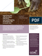 Improving the effectiveness, efficiency and sustainability of fertilizer use in South Asia