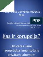 Latvijas Korupcijas uztveres indekss 2012